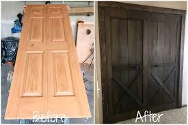 creating a barn door from bifold doors
