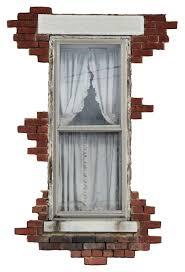 Brick Window Decal Vinyl Wall Decal Old Window Art Home Decor Vintage Brick Texture Vinyl Graphics Rustic Window Decal Wall Art