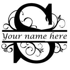 Letter S Floral Initial Monogram Family Name Vinyl Decal Etsy