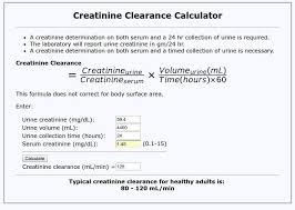 creatinine clearance equation 24 hour
