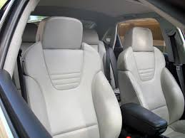 white leather seats clean