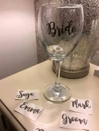 Personalised Wine Glass Champagne Flute Glass Decal Transfer Etsy