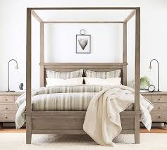 farmhouse canopy bed wooden beds