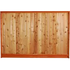 Aim Cedar Works 65 7 16 X 8 Prem Solid Fence Panel The Home Depot Canada