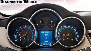 chevrolet cruze mk1 car warning lights