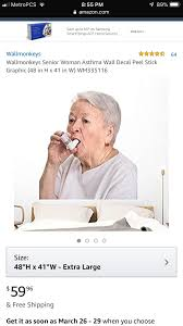 I Want This Senior Woman With Asthma Picture On The Walls Asthma Picture Wall Things I Want