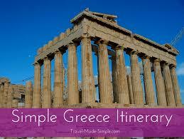 ideas for planning one week in greece