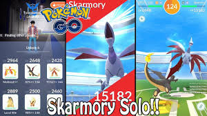 UNIQUE 6 Skarmory Raid Boss SOLO In Pokémon GO!