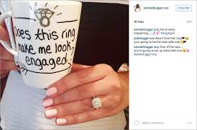 wedding instagram cute posts to announce your engagement inside