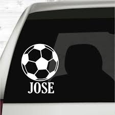 Soccer Car Decal Soccer Mom Gifts Sports Decal Soccer Coach Etsy