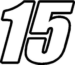 Nascar Decals 15 Race Number Impact Font Decal Sticker Decals Stickers Custom Window Stickers Custom Car Decals