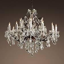 vintage rustic crystal chandelier