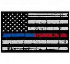 Thin Blue Red Line American Flag Sticker 3x5