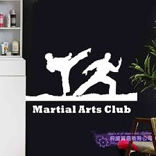 Mma Wall Sticker Taekwondo Kick Play Decal Free Combat Posters Vinyl Striker Wall Decals Decor Mixed Martial Arts Club Car Decal Wall Stickers Aliexpress