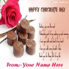 happy chocolate day quotes card your images happy