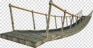 wooden bridge suspension bridge gray