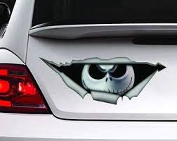 Amazon Com Nightmare Before Christmas Sticker Car Decal Jack Decal Vinyl Decal Sticker For Cars Trucks Windows Walls Laptops 11 Home Kitchen