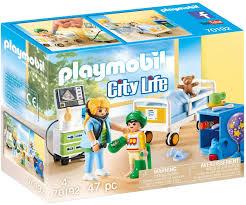Amazon Com Playmobil Children S Hospital Room Toys Games