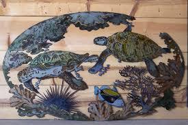 outdoor metal turtle wall art