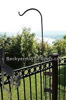 Deck Pole Iron Railing Mount Aluminum Fence Outdoor Backyard