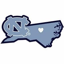 Ncaa North Carolina Tarheels Home State Decal Auto Car Window Vinyl Sticker For Sale Online Ebay