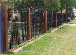 Metal And Timber Fences Google Search Fence Landscaping Modern Fence Pool Fence