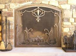 custom fireplace screens fire screens