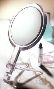 10x hand held 2 sided mirror with stand