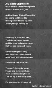 golden chain poem by helen steiner rice