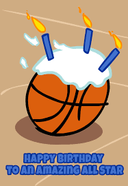 Free Printable Basketball Greeting Card Tarjetas De Felicitacion