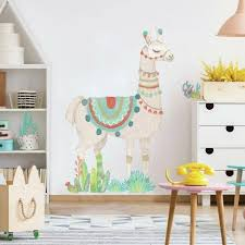 Watercolor Llama Peel And Stick Giant Wall Decal Roommates Target