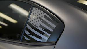 Distressed Flag Quarter Window Decal 2015 2020 Subaru Wrx Sti Premium Auto Styling