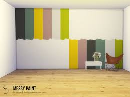 messy wall paint the sims 4 catalog