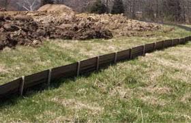 Erosion Control Silt Fence Construction Site Silt Fencing