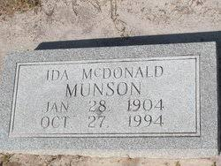 Ida McDonald Munson (1904-1994) - Find A Grave Memorial