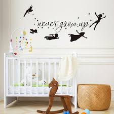 Tinkerbell Star Never Grow Up Peter Pan Wall Decal Kids Baby Bedroom Vinyl Sticker Home Decor Nursey Stickers Art Mural Z835 Buy At The Price Of 6 99 In Aliexpress Com Imall Com