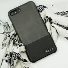 personalized grey black iphone 8 plus