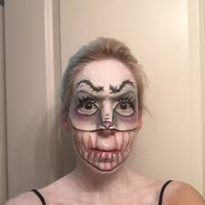 scary bunny makeup with snazaroo more