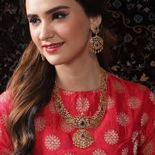 Myra Long Necklace Set | Fashion jewelry, Necklace set, Bridesmaid jewelry  sets