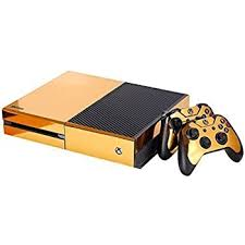 Amazon Com Ndad Full Body Golden Protective Vinyl Skin Decal For Xbox One Console And 2pcs Xbox One Controller Skins Stickers Home Audio Theater