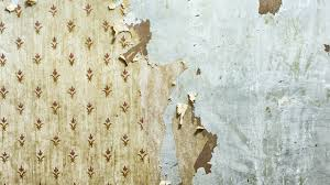 stuck with old wallpaper paint over it