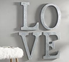hanging galvanized letters wall decor