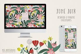 june 2018 free desktop calendar