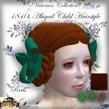 Second Life Marketplace - ~CdE~ 1840s Abigail Child Hair Reds
