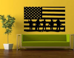 Salute Wall Decal Etsy