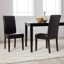 Shop Villa Faux Leather Dining Chairs Set Of 2 On Sale Overstock 5801287
