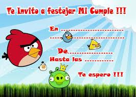 Invitaciones De Cumpleanos De Angry Birds Invitacion Cumpleanos