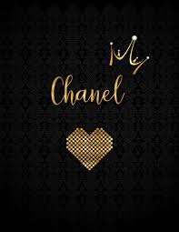 chanel black personalized lined journal inspirational quotes