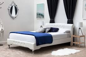 knightsbrook white faux leather