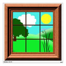 Cute Colorful Cartoon Window Decal Zazzle Com